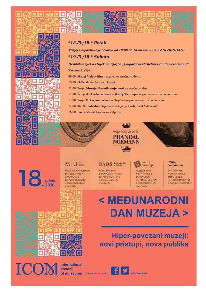 MEĐUNARODNI DAN MUZEJA u Muzeju Valpovštine – 18. i 19. svibnja 2018. godine