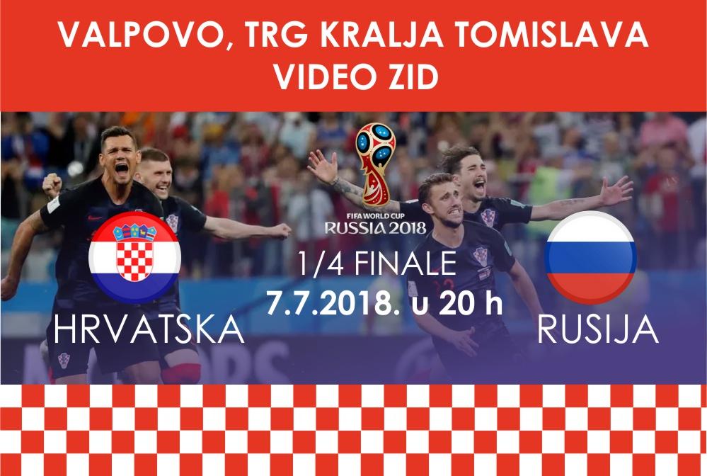 Gledanje utakmice Hrvatska – Rusija na Trgu kralja Tomislava [VIDEO ZID]