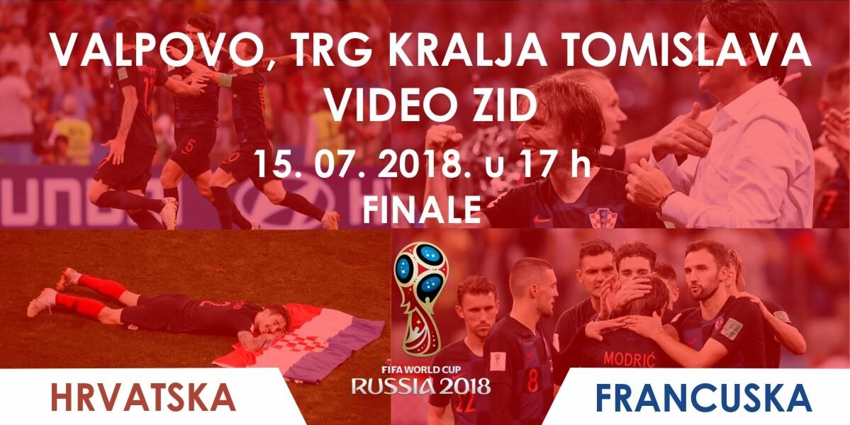 Gledanje finala HRVATSKA – FRANCUSKA na Trgu kralja Tomislava [VIDEO ZID]