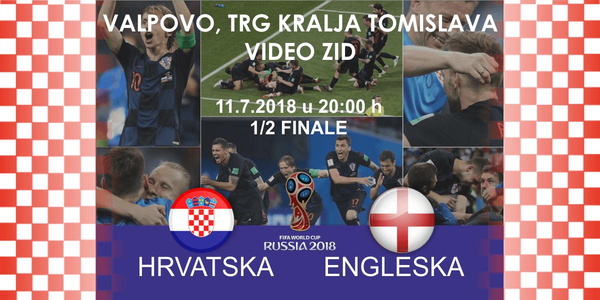Gledanje utakmice HRVATSKA – ENGLESKA [VIDEO ZID]