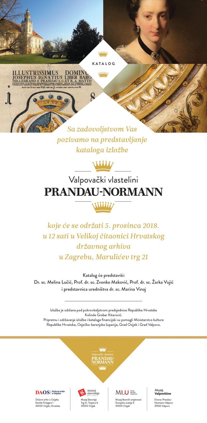 Predstavljanje kataloga izložbe Valpovački vlastelini Prandau – Normann
