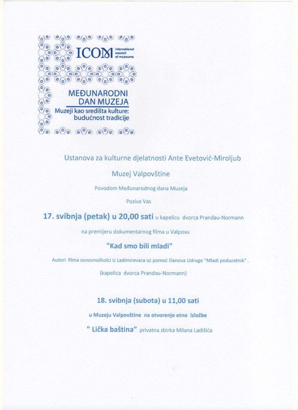 Međunarodni dan Muzeja u Muzeju Valpovštine
