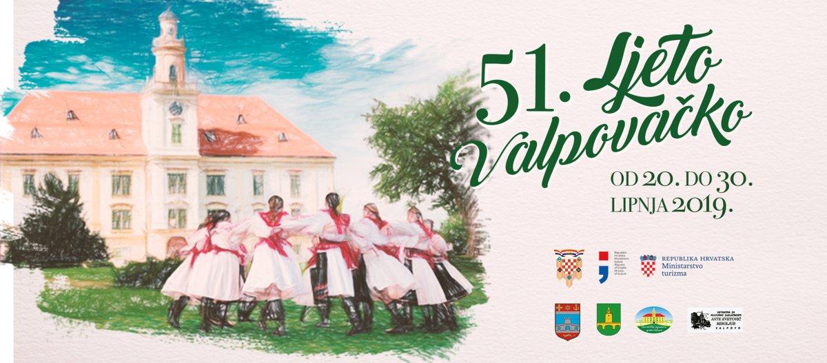 PROGRAM 51. SMOTRE AMATERSKOG KULTURNOG STVARALAŠTVA  – LJETO VALPOVAČKO –  20. – 30. lipnja 2019. g.