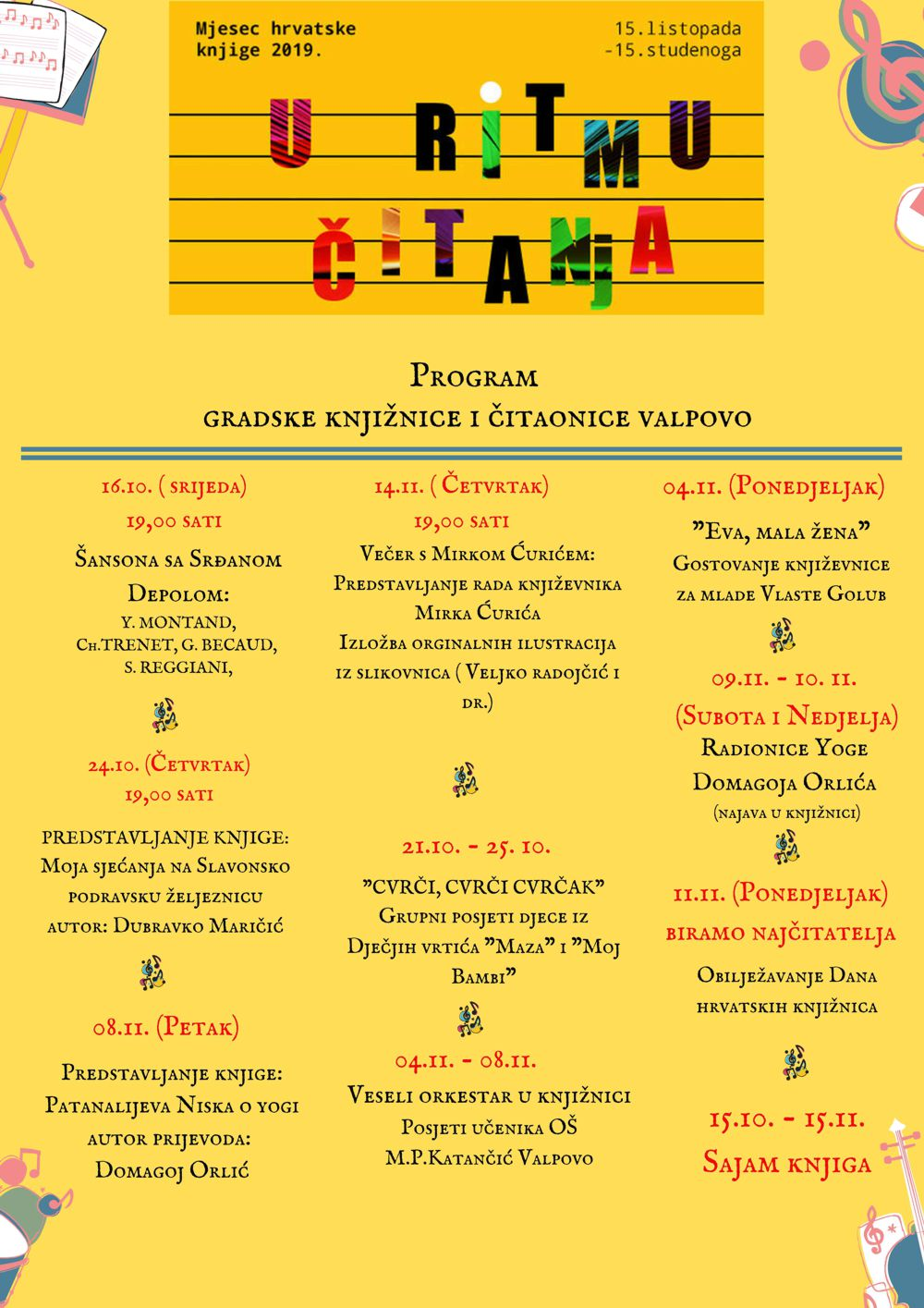Mjesec hrvatske knjige 2019.