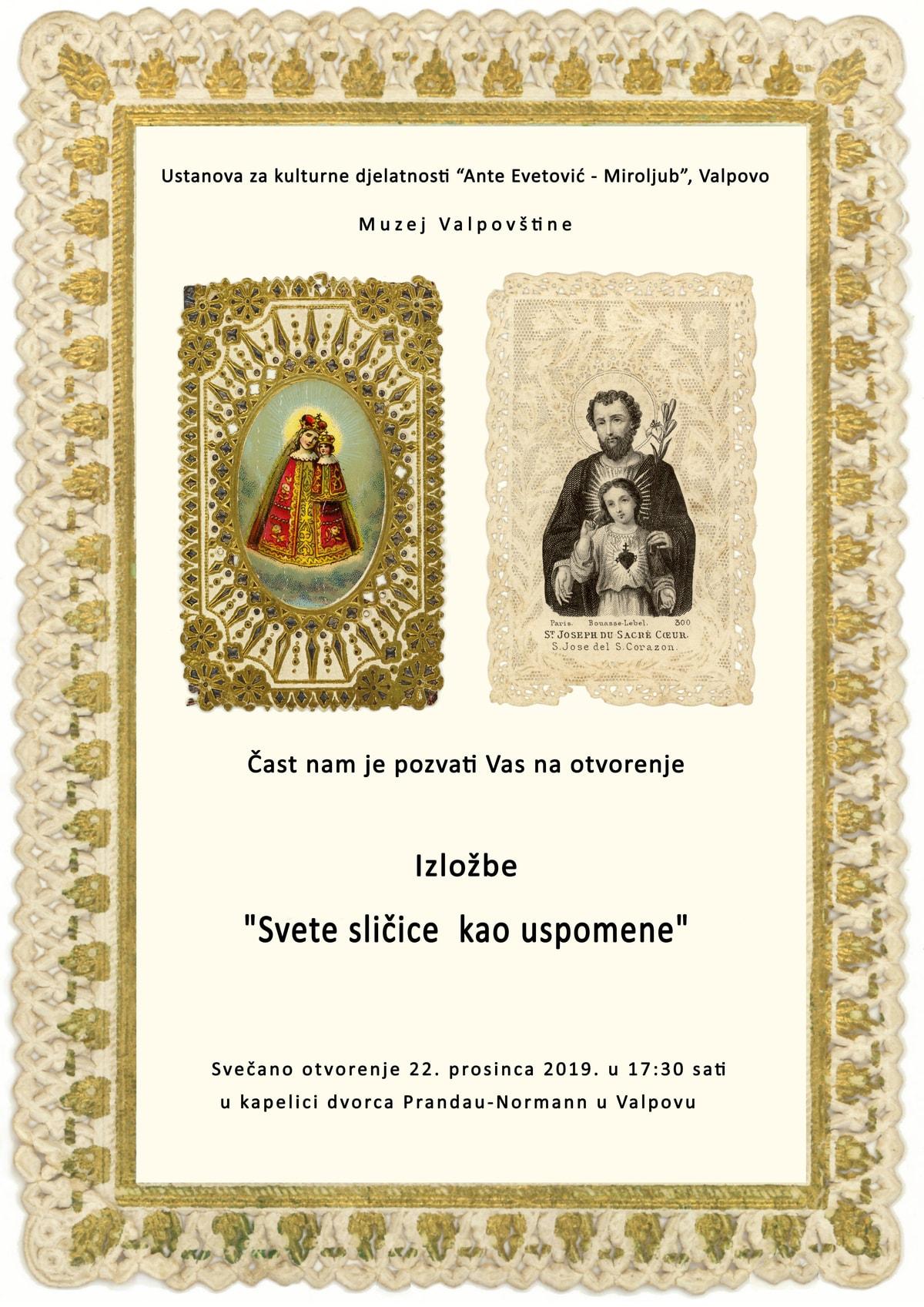 """Otvorenje izložbe """"Svete sličice kao uspomene"""" u Muzeju Valpovštine"""