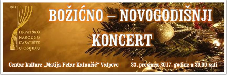 Božićno-Novogodišnji Koncert HNK-a Osijek
