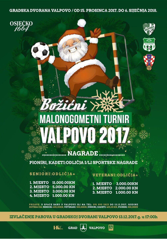 Božićni malonogometni turnir Valpovo 2017