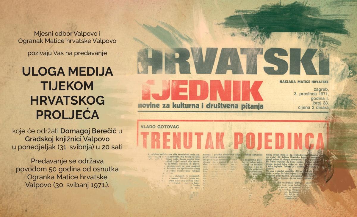 Predavanje o Hrvatskom proljeću